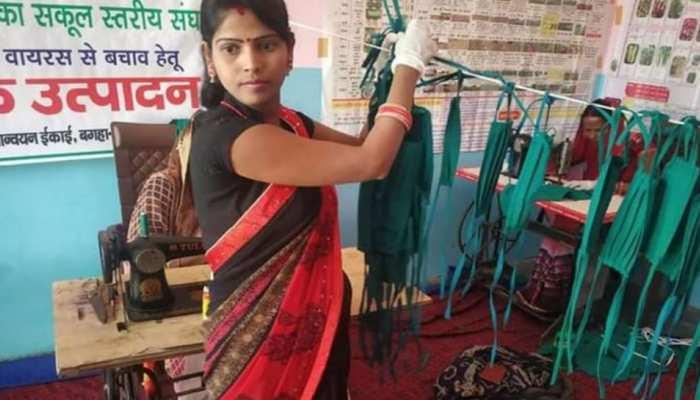 बिहार में मास्क की कमी दूर कर रही 'जीविका दीदी'