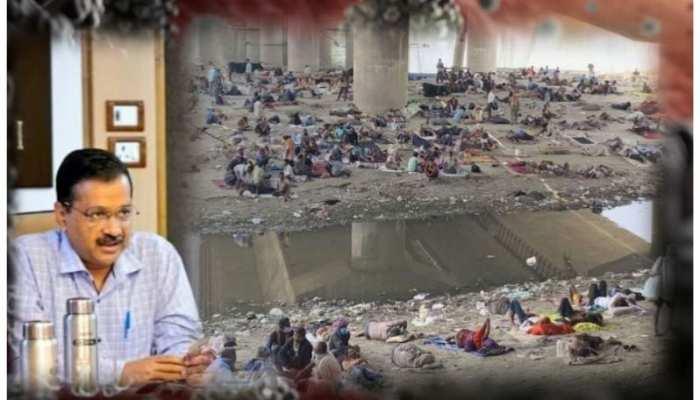 दिल्ली में यमुना किनारे जमा हुए मजदूर, जब मामला उठा तो हटाए गए