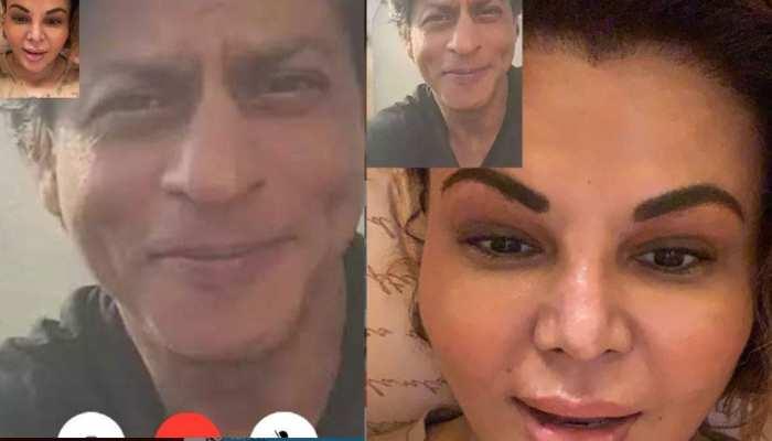 राखी सावंत ने Shahrukh Khan से वीडियो कॉल पर की बात! यूजर्स ने किए लोट-पोट करने वाले कमेंट