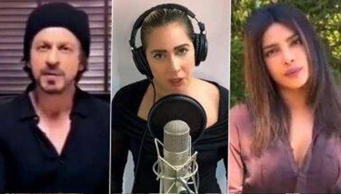 वर्चुअल कॉन्सर्ट में Lady Gaga के साथ दिखे Shahrukh Khan और Priyanka Chopra