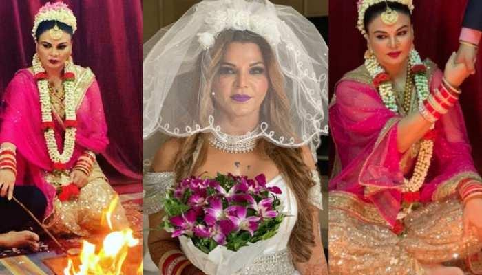 पहली बार सामने आई Rakhi Sawant की शादी की तस्वीरें, पति का हाथ थामे आईं नजर