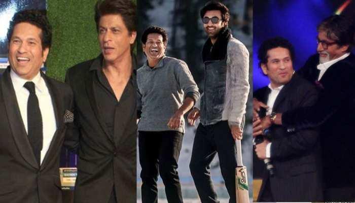 Every superstar from Shah Rukh Khan to Amitabh Bachchan is crazy about Sachin Tendulkar