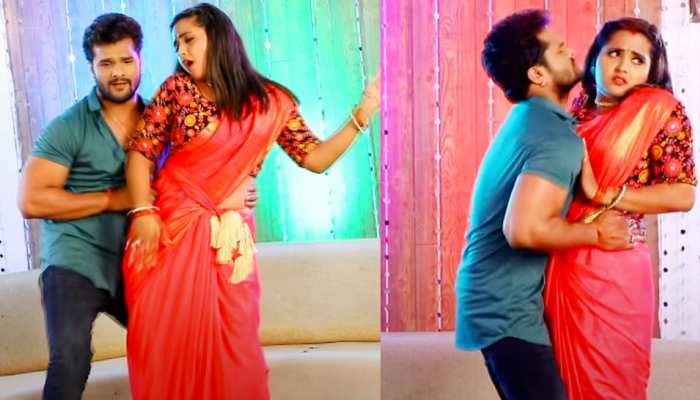 लाल साड़ी में Kajal Raghwani ने ढाया कहर, वायरल हुआ Khesari Lal Yadav का यह भोजपुरी गाना