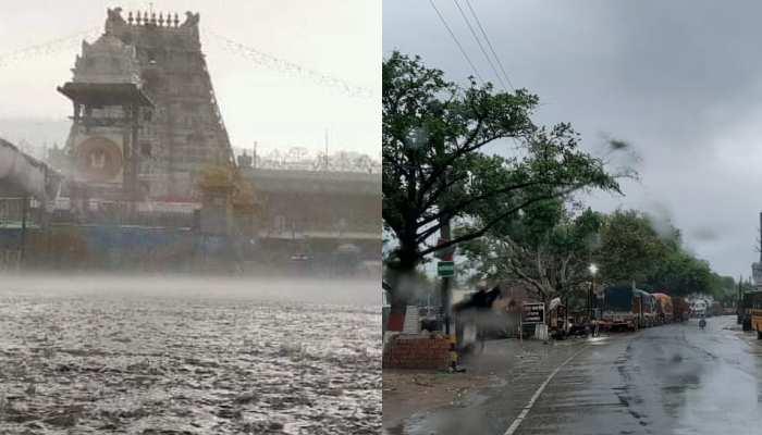 Heavy rain fell from north to south across India