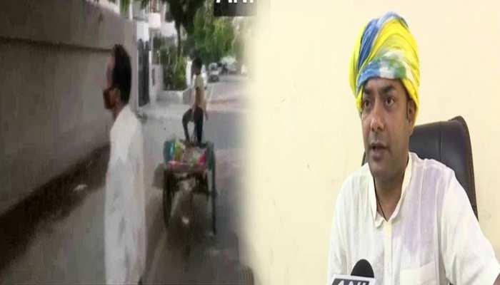 सब्जी वाले को हड़काते हुए BJP विधायक का वीडियो वायरल, अब CM योगी को पत्र लिख की ये मांग