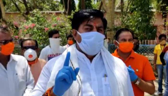MP: भाजपा विधायक रामेश्वर शर्मा का विवादित बयान, कांग्रेस को बताया तबलीगी जमात का भाई