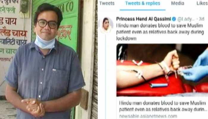अभिमन्यु ने मुस्लिम खातून को दान किया खून, UAE की राजकुमारी ने भी की तारीफ