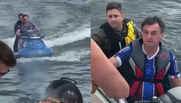 कोरोना संकट के बीच इस देश के राष्ट्रपति ने उठाया jet ski का लुत्फ, लोगों का फूटा गुस्सा