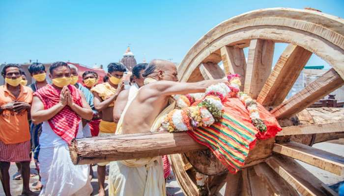 Chariot making and other rituals at Puri Lord Jagannath at full swing amid lockdown