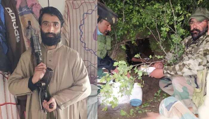 कश्मीर के बडगाम में आतंकी अड्डे का भंडाफोड़, लश्कर-ए-तैयबा का आतंकी जहूर वानी गिरफ्तार