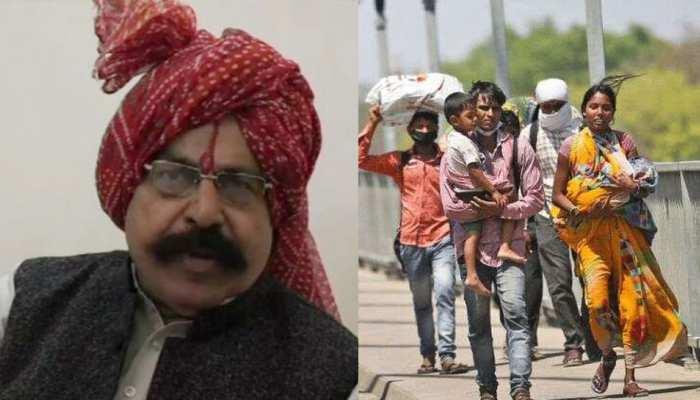 यूपी सरकार के राज्यमंत्री के बिगड़े बोल, पैदल घर जा रहे मजदूरों की चोर-डकैतों से की तुलना