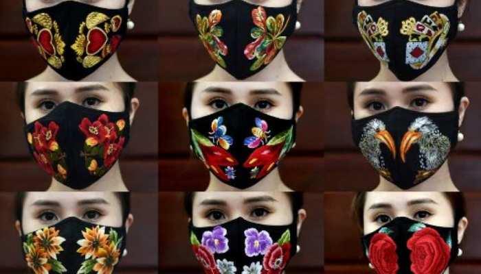 Lockdown: बाजार बंद लेकिन मास्क को डिजाइनर बनाने का काम चालू, देखें फैशन स्टेटमेंट मास्क
