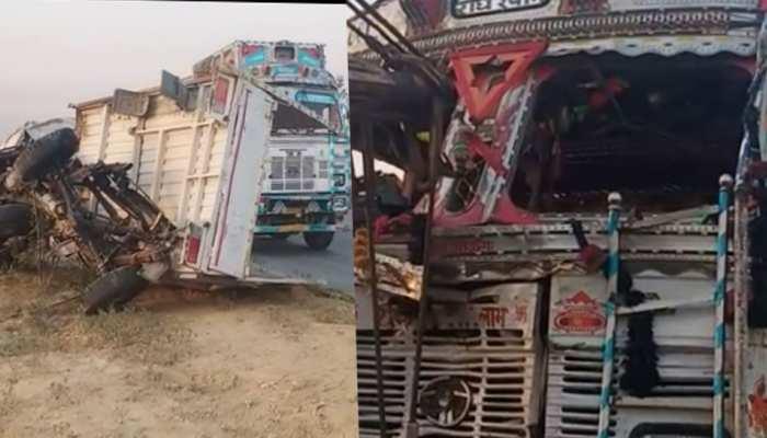 किसानों को लेकर जा रही पिकअप को तेज रफ्तार ट्रक ने मारी टक्कर, 6 किसानों की मौत