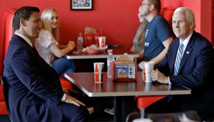 कोरोना का खौफ नहीं, बिना मास्क के रेस्टोरेंट पहुंच गए अमेरिका के उपराष्ट्रपति