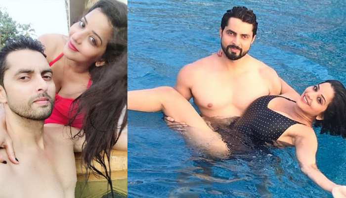 Monalisa was seen with husband in a very bold style, See Viral Pics