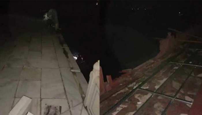 आगरा में तूफान ने मचाई तबाही, ताजमहल को नुकसान; मुख्य मकबरे की रेलिंग टूटी