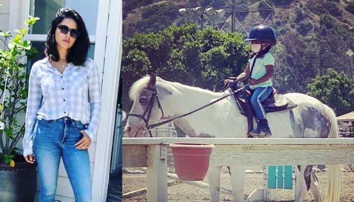 नन्हीं सी बेटी ने की घुड़सवारी तो देखकर इमोशनल हुईं Sunny Leone, कही ऐसी बात
