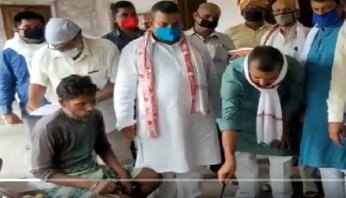 कांग्रेस ने शुरू की 'कांग्रेस का सिपाही मजदूरों का भाई महा रसोई' अभियान, जरूरमंदों को कराया भोजन