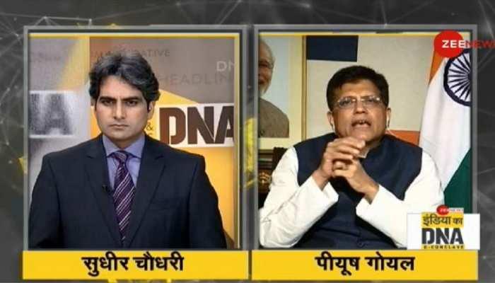 #IndiaKaDNA: ट्रेनों पर झूठी खबर चलाई गई, लेकिन Zee News ने ऐसा नहीं किया- पीयूष गोयल