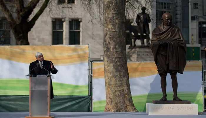 लंदन में प्रदर्शनकारी महात्मा गांधी की प्रतिमा को बना सकते हैं निशाना, सुरक्षा बढ़ी