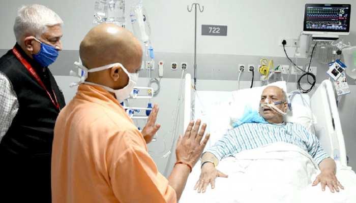 लखनऊ: मेदांता अस्पताल पहुंचकर CM योगी ने जाना गवर्नर लालजी टंडन का हालचाल