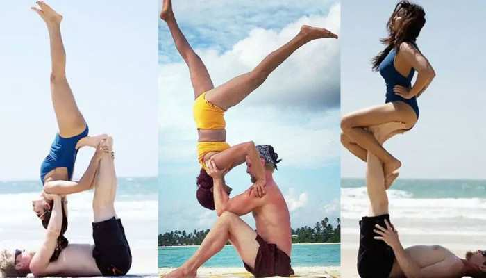 tv actress aashka goradia shares hot yoga photos with her partner