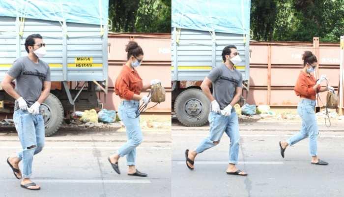 Rajkumar Rao spooted with girlfriend Patralekha in suburbs