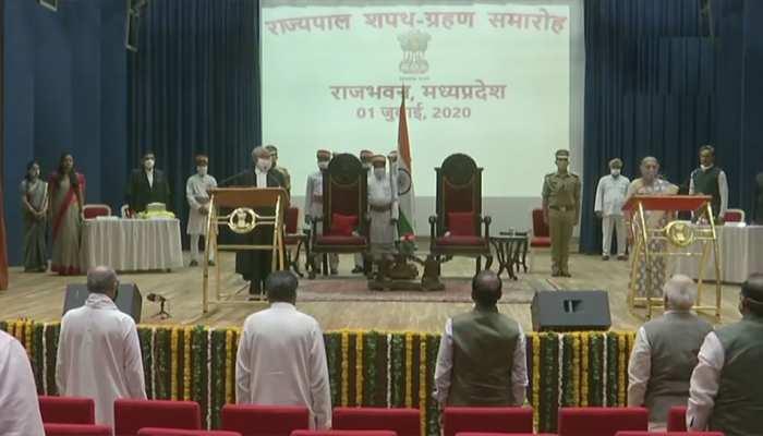 शिवराज मंत्रिमंडल विस्तार से पहले आनंदीबेन पटेल ने ली मध्य प्रदेश के राज्यपाल पद की शपथ