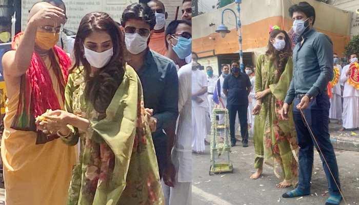 Nusrat Jahan joins Rath Yatra with husband, see viral photos