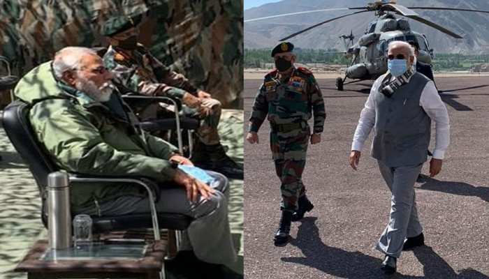 Prime Minister Narendra Modi reached Leh to meet Indian Army Soldiers