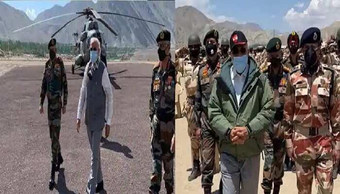 लेह में वॉर मेमोरियल पहुंचे पीएम मोदी, रक्षामंत्री बोले 'सेना का बढ़ेगा मनोबल'