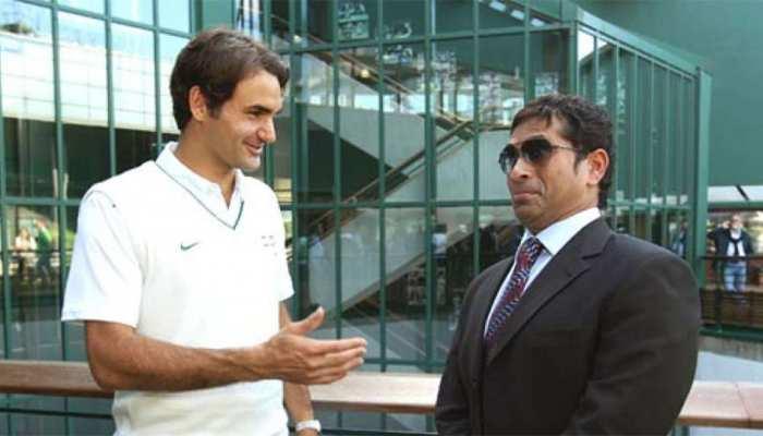 टेनिस कोर्ट में दिखे सचिन तेंदुलकर, दोस्त रोजर फेडरर से मांगी ये टिप्स