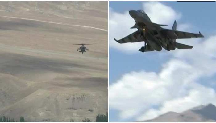 VIDEO: चीन संग तनातनी के बीच LAC पर वायुसेना ने दिखाया दम, सुखोई-30 और मिग-29 ने भरी उड़ान