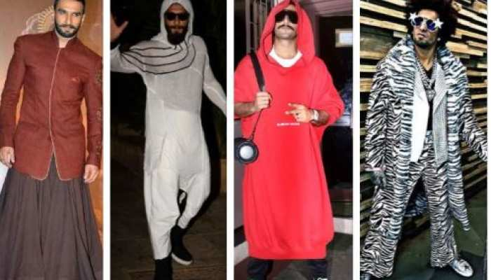 ranveer singh top 10 crazy dress sense