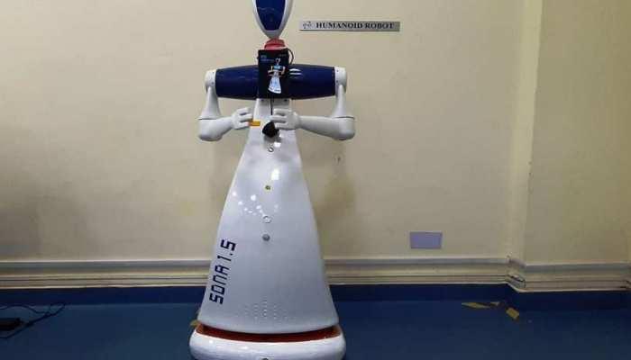 चीन को मात दे रहा स्वदेशी ह्यूमैनॉयड रोबोट, मास्क और सैनिटाइजर का भी रख रहा ध्यान
