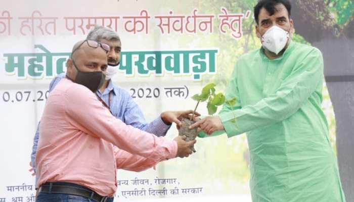 केंद्र सरकार से मिले लक्ष्य से दोगुना पौधे लगाएगी दिल्ली सरकार- गोपाल राय