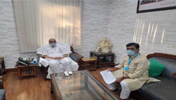 रक्षा मंत्री राजनाथ सिंह से मिले रामकृपाल यादव, दानापुर छावनी सड़क को खुलवाने की रखी मांग