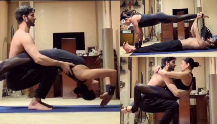 Sushmita Sen couple Yoga pictures went viral on internet