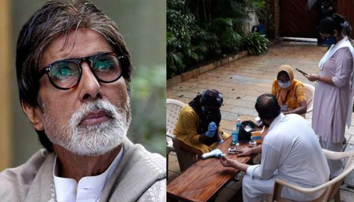 Amitabh Bachchan Staff went throw corona test see pics