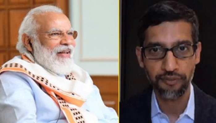 भारत में ₹ 75 हज़ार करोड़ की इन्वेस्टमेंट करेगी गूगल, PM मोदी और गूगल CEO की हुई बात