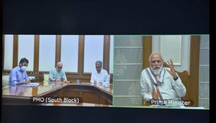 PM मोदी ने वीडियो कॉन्फ्रेंसिंग के जरिये की केदारनाथ धाम में पुनर्निर्माण कार्यों की समीक्षा