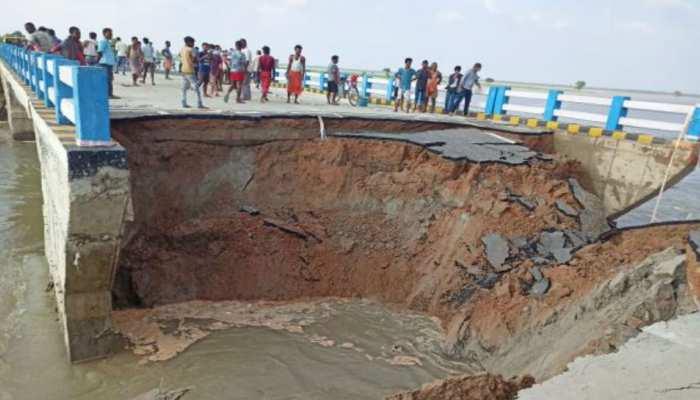 गोपालगंज में एक महीने पहले बना रामजानकी पथ टूटा, कई जिलों से संपर्क हुआ खत्म