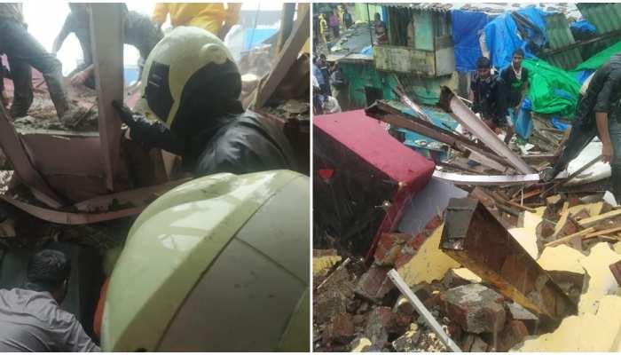 मुंबई: भारी बारिश के कारण दो मकान ढहने से 4 की मौत, कई घायल, बचाव कार्य जारी