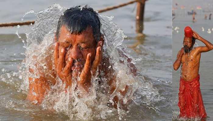 सोमवती अमावस्या के स्नान के दौरान 'कोरोना' भूले श्रद्धालु, सोशल डिस्टेंसिंग की उड़ीं धज्जियां