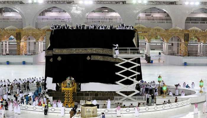 Saudi Arabia The Holy Kaaba gets a new Kiswa watch photos