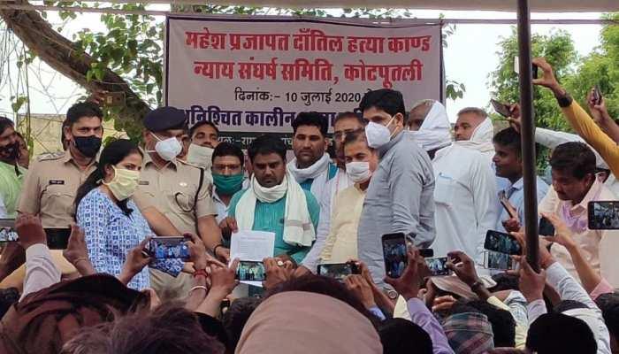 जयपुर: धारा 144 लागू होने के बावजूद कचहरी में जुटी भीड़, कोविड नियमों का बना 'मजाक'