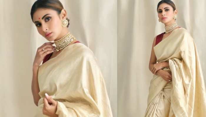 Mouni Roy new saree look viral on internet
