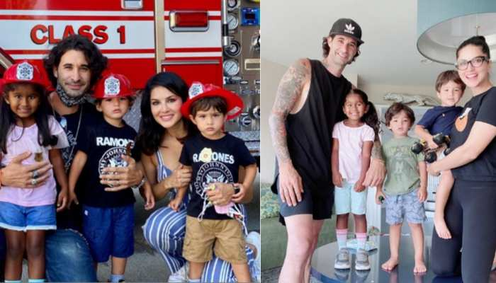 Sunny Leone is enjoying with her family in america