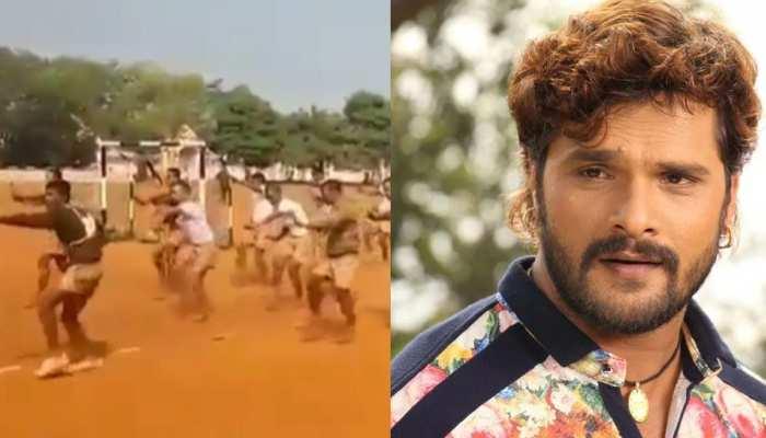 Khesari Lal Yadav के गाने पर जवानों ने की ट्रेनिंग, वायरल हुआ वीडियो
