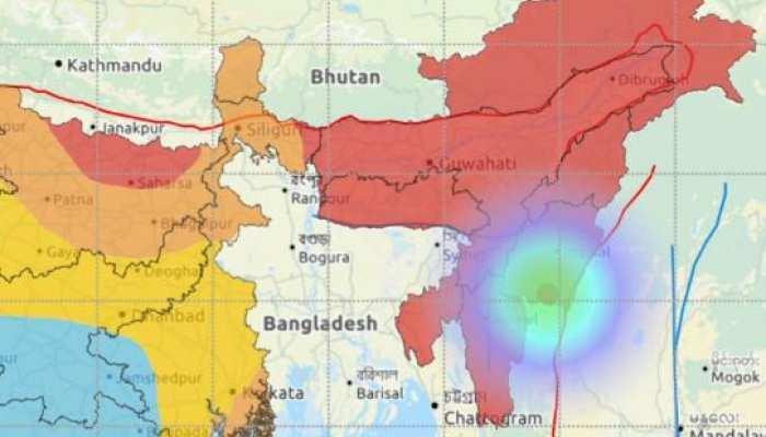 मणिपुर के मोइरंग में भूकंप के झटके, 4.0 रही तीव्रता